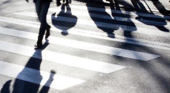 Voetgangers en fietsers