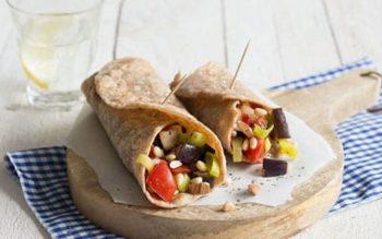 Wrap met groente en noten